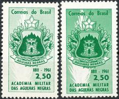 BRAZIL 1961 150th Anniversary Military Academy 2.50 Cr. U/M VARIETY WRONG COLOR - Nuevos