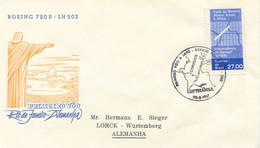 """BRAZIL 1961 First Flight Lufthansa LH 503 """"RIO DE JANEIRO - FRANKFORT"""" - Aéreo"""