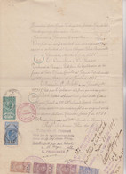 DOCUMENTO CARTA BOLLATA ITALIANA  RILASCIATA ON ARGENTINA CON MARCA LEGALIZZAZIONI AFFARI ESTERI SOVR. 6,30 - Documenti Storici