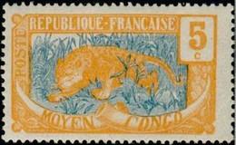 MOYEN CONGO - Léopard (Panthera Pardus) - Ungebraucht