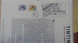 N335 Document Officiel De La Poste Année 2000.Tintin. PORT OFFERT SI ACHAT DE 20 DOCUMENTS!!! - Documentos Del Correo
