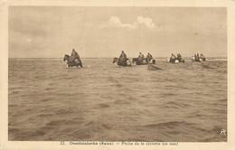 OOSTDUINKERKE (Bains) - Pêche De La Crevette (en Mer) - Oblitération De 1937 - Oostduinkerke