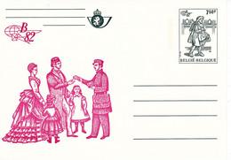 B01-347 Carte Entier Postal CA BK 33 - Belgica 1982 - Lilas - Tarjetas Ilustradas