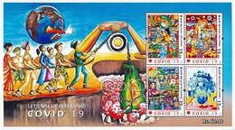 SRI LANKA 2020 Miniature Frontline Heroes , Covid-19, Coronavirus , Mask, Doctor, Nurse, Vaccine ,Army, Food(**) - Sri Lanka (Ceylon) (1948-...)