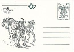 B01-347 Carte Entier Postal CA BK 31 - Belgica 1982 - Grise - Tarjetas Ilustradas