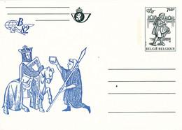 B01-347 Carte Entier Postal CA BK 28 - Belgica 1982 - Bleue - Tarjetas Ilustradas