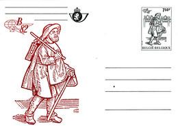 B01-347 Carte Entier Postal CA BK 29 - Belgica 1982 - Brune - Tarjetas Ilustradas