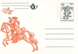 B01-347 Carte Entier Postal CA BK 32 - Belgica 1982 - Jaune - Tarjetas Ilustradas