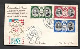 Monaco FDC, Mariage Royal - Familias Reales