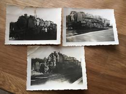 3 Photos De Trains Militaires 5°génie Avant 1940 9,5 X 7 Cm - 1939-45