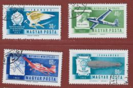 Timbre Hongrie Avion  N° PA 232 - PA 233 - PA 234 - PA 235 - Gebraucht