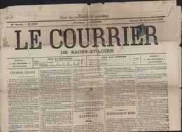 Timbre Pour Journaux YT Sage N°83 Oblitération Typographique Journal Le Courrier De Saône Et Loire 1879 Complet Pub - Journaux