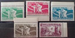 R1507/153 - 1943 - COLONIES FR. - AIDE AUX COMBATTANTS - SERIE COMPLETE - N°60 à 64 NEUFS** BdF - Autres