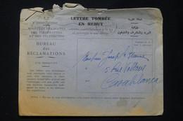 MAROC - Enveloppe De Rebuts De Rabat En 1956 Pour Casablanca - L 89523 - Briefe U. Dokumente