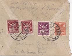 TCHECOSLOVAQUIE 1921 LETTRE DDE RUMBURK - Briefe U. Dokumente