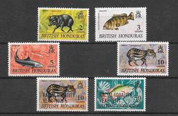 Animaux Divers Pécari Poisson - Honduras Britannique N°218, 219, 221, 222, 272, 273 1968-71 ** - Zonder Classificatie