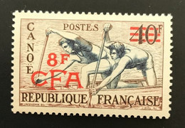 REUNION 1953 - NEUF * / MH - YT 314 - CANOE - LUXE CV 23,50 EUR - Unused Stamps
