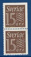 """Schweden 1964  """" Ziffernzeichnung """" , Mi. 520 Paar Ero / Dr Postfrisch / MNH / Neuf - Ungebraucht"""