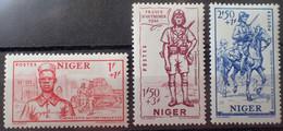 R1507/155 - 1941 - COLONIES FR. - NIGER - SERIE COMPLETE - N°86 à 88 NEUFS* - Neufs