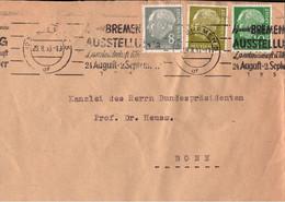 ! 1956 Brief Aus Bremen An Bundespräsidenten Theodor Heuss  In Bonn - Cartas