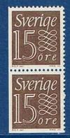 """Schweden 1964  """" Ziffernzeichnung """" , Mi. 520 Paar Elu / Dl Postfrisch / MNH / Neuf - Ungebraucht"""