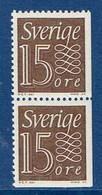 """Schweden 1964  """" Ziffernzeichnung """" , Mi. 520 Paar Eru / Dr Postfrisch / MNH / Neuf - Ungebraucht"""