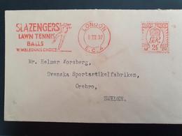 Machine Cancel Slazengers' Lawn Tennis Balls. 8-3-1932 - Tennis