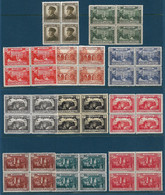 Monaco 1922/23 Série 54/64**/* Vue De La Principauté. En Bloc De 4 Cote 552,80€ - Unused Stamps