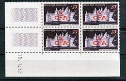Réunion 298A Chambord Bloc De 4 Coin Daté  19 11 1953  Neuf ** TB MnH Sin Charmela Cote 16 - Unused Stamps