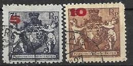 Liechtenstein VFU Set 1925 80 Euros - Used Stamps