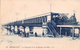 BORDEAUX La Passerellede La Compagnie Du Midi  15(SCAN RECTO VERSO)MA122 - Bordeaux