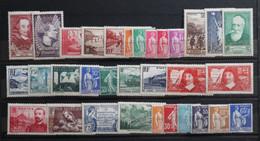 FRANCE - Timbres De L'année 1937  Neufs *      ----------------Cote: 89.00 € - Ongebruikt