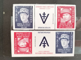 Militaire à 70e Anniversaire D-Day De Charles De Gaulle Et Le Général Gavin Usa ** - Unused Stamps