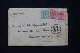AFRIQUE DU SUD - Enveloppe Pour La France En 1911, Affranchissement Cap De Bonne Espérance / Transvaal + Taxe - L 89531 - Briefe U. Dokumente