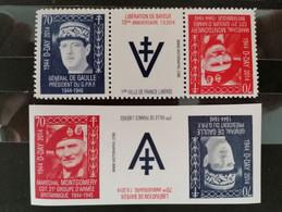 Charles De Gaulle Président Du. G. P. R.  Et Le Général Montgomery  CDT  Groupe Armé Britannique 2944 _a945** - Unused Stamps