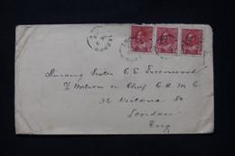 CANADA - Enveloppe Commerciale De Jasper Pour Londres En 1915, Voir Cachet Médical Contingent Canadien Au Dos - L 89532 - Cartas