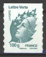 N° 606 Y.T. Neuf ** France Auto-adhésif Type Marianne De Beaujard Lettre Verte 100g Vert-foncé - Luchtpost
