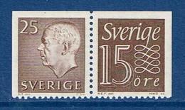 """Schweden 1964  """" Gustav VI Adolf  + Ziffernzeichnung """" , Mi. 478 + 520  Paar W 20 ,  Postfrisch / MNH / Neuf - Ungebraucht"""