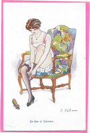 FABIANO - Femme Deshabillée Assise Sur Fauteuil - Le Bas à L'envers - Fabiano