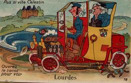 65 LOURDES CARTE SYSTEME AVEC SES VUES - Lourdes