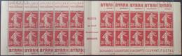 R1507/170 - 1938 - TYPE SEMEUSE CAMEE - CARNET N°360-C1 Serie C21 TIMBRES NEUFS** Avec CD Du 24.1.38 - Freimarke
