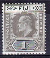 Fiji 1906 King Edward 1s Black/Green Single Stamp. - Fiji (...-1970)