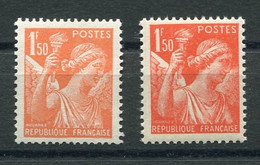 RC 20411 FRANCE COTE 30€ N° 435a IRIS FAUX DE L'INTELLIGENCE SERVICE NEUF ** TB - MNH VF - Nuovi