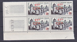 Réunion 339 Cahors Pont A été Plié Bloc De 4 Coin Daté 27 6 1957  Neuf ** TB MnH Sin Charmela Cote 37.5 - Unused Stamps