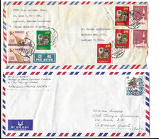 CHINA - HONG KONG , 2 LETTERS FOR CHILE AND ITALY . - Non Classés