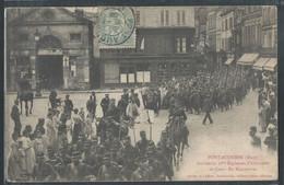 CPA 27 - Pont-Audemer, Arrivée Du 36ème Régiment D'Infanterie De Caen - En Manoeuvres - Pont Audemer