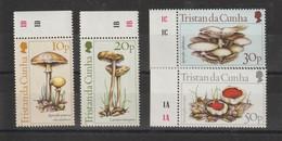 Tristan Da Cunha 1989 Champignons 350-353 4 Val ** MNH - Tristan Da Cunha