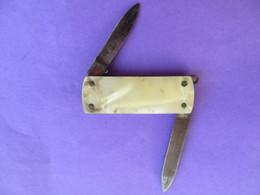 Petit Canif Deux Lames Revêtement Nacré - Knives