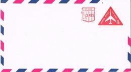 39486. Entero Postal USA, United States 8 + 2 Ctvos. Triangular Stamp Avion - 2001-10