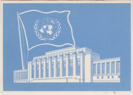 1967 Suisse Genève Nations Unies Palais Des Nations Palace Of Nations CP Avec Oblitération Concordante Au Dos Voyagé - Briefe U. Dokumente